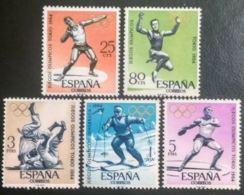 JJ.OO. TOKIO - AÑO 1964 - Nº EDIFIL 1617-21 - 1931-Hoy: 2ª República - ... Juan Carlos I