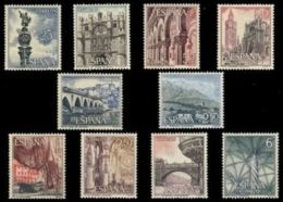 SERIE TURISTICA - AÑO 1965 - Nº EDIFIL 1643-52 - 1931-Hoy: 2ª República - ... Juan Carlos I