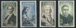PERSONAJES - AÑO 1965 - Nº EDIFIL 1653-56 - 1931-Hoy: 2ª República - ... Juan Carlos I