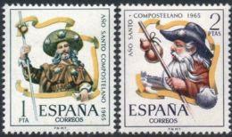 AÑO COMPOSTELANO - AÑO 1965 - Nº EDIFIL 1672-73 - 1931-Hoy: 2ª República - ... Juan Carlos I