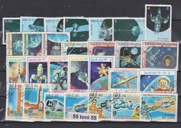 LAOS  Lot – 4 Copl.set SPACE   28v.-used (O) - Ruimtevaart