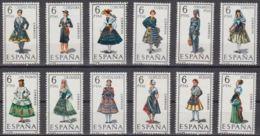 TRAJES TIPICOS - AÑO 1968 - Nº EDIFIL 1839-50 - 1931-Hoy: 2ª República - ... Juan Carlos I