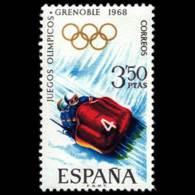 JJ.OO. GRENOBLE - AÑO 1968 - Nº EDIFIL 1852 - 1931-Hoy: 2ª República - ... Juan Carlos I