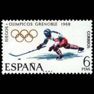 JJ.OO. GRENOBLE - AÑO 1968 - Nº EDIFIL 1853 - 1931-Hoy: 2ª República - ... Juan Carlos I