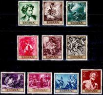 MARIANO FORTUNY - AÑO 1968 - Nº EDIFIL 1854-63 - 1931-Hoy: 2ª República - ... Juan Carlos I