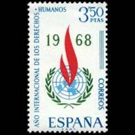 DERECHOS HUMANOS - AÑO 1968 - Nº EDIFIL 1874 - 1931-Hoy: 2ª República - ... Juan Carlos I