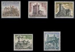 CASTILLOS ESPAÑA - AÑO 1968 - Nº EDIFIL 1880-84 - 1931-Hoy: 2ª República - ... Juan Carlos I