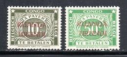 Série Taxe 1943 N° 15 Et 17 Avec Charnière -  Type B Dent 14X15 - Ruanda-Urundi