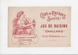 Vloeipapier / Buvard - Aliment Vivant Vitamines / Cure De Raisins / Nuits-St. Georges (Côte-d'Or) - Produits Pharmaceutiques