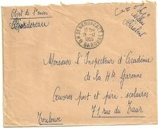 GARONNE / Hte - Dépt N° 31 = SENGOUAGNET 1959 = CACHET MANUEL A7  + FRANCHISE ECOLE - Cachets Manuels
