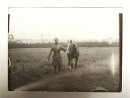 Plaque Photo Militaire 1915 Régiment Indien à Rouen Guerre 14-18 WWI Indiens 10èm Lancier Armée Des Indes - Guerre, Militaire