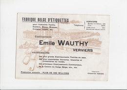 Vloeipapier / Buvard - Fabrique Belge D'Etiquettes - Verviers - Emile Wauthy - Papeterie