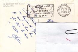 CPSM Et FLAMME De 1969 Ste Geneviéve Des Bois  + 1er Mai Sa Foire De Tourisme Et De Thermalisme - A Voir 2 Scans - EMA (Print Machine)