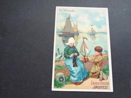 Chromo ( 1224 )  Publicité  Reclame - Chocolade  Chocolat  Chocolaterie  GROOTES  Westzaan  Holland - Autres