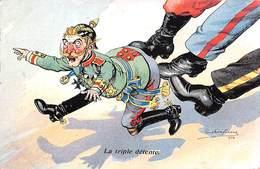 Illustrateur - N°63115 - Dufresne - La Triple Détente - Officier Allemant Recevant Des Coups De Pied - Andere Illustrators