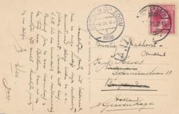 Luxemburg - 1928 - 90c Charlotte - Single On Postkarte From Echternach To  Bergen Op Zoom / Nederland - 1926-39 Charlotte Rechtsprofil