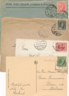 Luxemburg - 4x Old Single Franking On Cover Or Card - Luxembourg