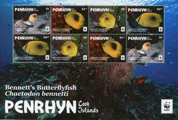 PENRHYN 2017 - Poisson Papillon, Wwf - Feuillet Neuf // Mnh - Penrhyn