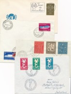 Luxemburg - 1958/9 - 4x Cover Or FDC - Europa, Willibrord, Exposition Bruxelles - Lussemburgo
