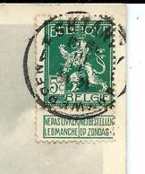 Timbre Avec Bandelette - Sur Carte 1913 - Booklets 1907-1941