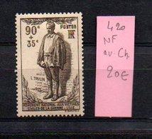 MAURY N° 420  NF Avec Trace De Charnière  N° 8 - Marcophilie (Timbres Détachés)