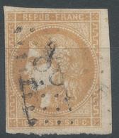 Lot N°52396  N°43Ba Bistre Orangé, Oblit GC 4088 Vallière, Creuse (22),bonnes Marges, Ni Pli, Ni Clair - 1870 Uitgave Van Bordeaux
