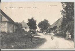 Rare CPA - 39 -  Ecleux - Une Rue - Animée   - Jura - France