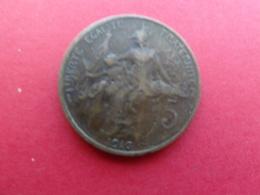 France  5 Centimes  1916  Km 842 - C. 5 Centimes