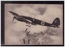 DT- Reich (008933) Propagandakarte Bombenschächte Auf! Bomben Laufen In Die Tiefe Und Vernichten, Ungebraucht - Germany