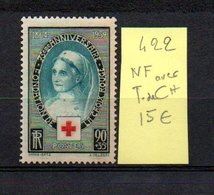 MAURY N° 422  NF Avec Trace De Charnière  N° 10 - Marcophilie (Timbres Détachés)