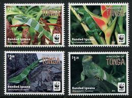 TONGA  2016 - Faune En Danger, Wwf, Iguanes - 4 Val Neufs // Mnh - Tonga (1970-...)