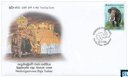 Sri Lanka Stamps 2019, Nedungamuwe Raja Tusker, Elephants, Elephant, FDC - Sri Lanka (Ceylon) (1948-...)