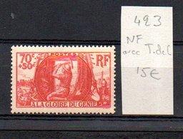 MAURY N° 423  NF Avec Trace De Charnière  N° 11 - Marcophilie (Timbres Détachés)