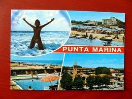 (FG.V29) PUNTA MARINA - VEDUTE VEDUTINE, SPIAGGIA PISCINA CHIESA (RAVENNA) Viaggiata - Ravenna