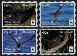 TONGA (Niuafo'ou)  2016 - Faune En Danger, Wwf, Black Petrel - 4 Val Neufs // Mnh - Tonga (1970-...)