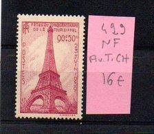 MAURY N° 429  NF Avec Trace De Charnière  N° 15 - Marcophilie (Timbres Détachés)