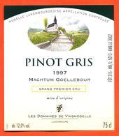 étiquette De Vin De Moselle Luxembourgeoise Pinot Gris 1997 Vinsmoselle à Luxembourg - 75 Cl - White Wines