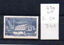 MAURY N° 430  NF Sans Trace De Charnière  N° 16 - Marcophilie (Timbres Détachés)