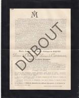 Doodsbrief Joseph De RIQUET, Prince De CHIMAY/CARAMAN °1836 †1892 Bxl - Ministre Des Affaires Etrangères (H215) - Overlijden