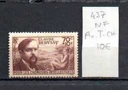 MAURY N° 437  NF Avec Trace De Charnière  N° 17 - Marcophilie (Timbres Détachés)
