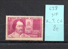 MAURY N° 438  NF Avec Trace De Charnière  N° 18 - Marcophilie (Timbres Détachés)