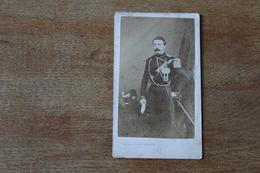 Cdv Photographie Militaire   Second Empire  Officier Capitaine D'artillerie Par Truchelut Dédicace - Guerre, Militaire