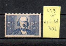 MAURY N° 439  NF Avec Trace De Charnière  N° 19 - Marcophilie (Timbres Détachés)