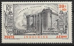 INDOCHINE : BASTILLE REVOLUTION POSTE AERIENNE N° 16 NEUVE ** GOMME SANS CHARNIERE - Luftpost