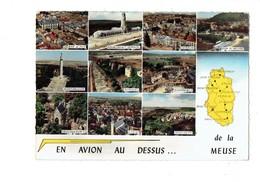 Cpm - 55 - En Avion Au Dessus De La Meuse ST MIHIEL BAR LE DUC VERDUN DUN VAUCOULEURS MONTFAUCON ETAIN - Autres Communes