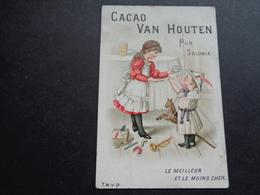 Chromo ( 1241 )  Publicité  Reclame - Chocolade  Chocolat  Van Houten - Van Houten