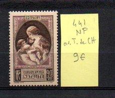MAURY N° 441  NF Avec Trace De Charnière  N° 21 - Marcophilie (Timbres Détachés)