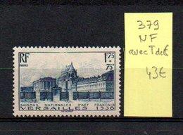 MAURY N° 379   NF Avec Trace De Charnière  N° 24 - Marcophilie (Timbres Détachés)