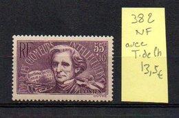 MAURY N° 382   NF Avec Trace De Charnière  N° 25 - Marcophilie (Timbres Détachés)