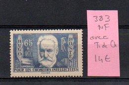 MAURY N° 383   NF Avec Trace De Charnière  N° 26 - Marcophilie (Timbres Détachés)